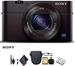 Sony Cyber-Shot DSC-RX100 III Camera DSCRX100M3/B with Soft Bag, Additional Battery, 64GB Memory Card, Card Reader, Plus Essential Accessories
