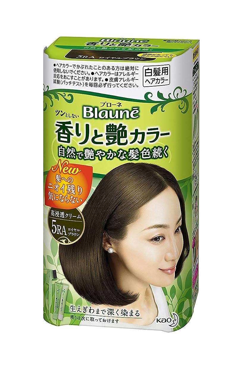 絶壁グラマー適合【花王】ブローネ香りと艶カラークリーム 5RA 80g ×5個セット