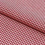 Hans-Textil-Shop Stoff Meterware Vichy Karo 2x2 mm Rot