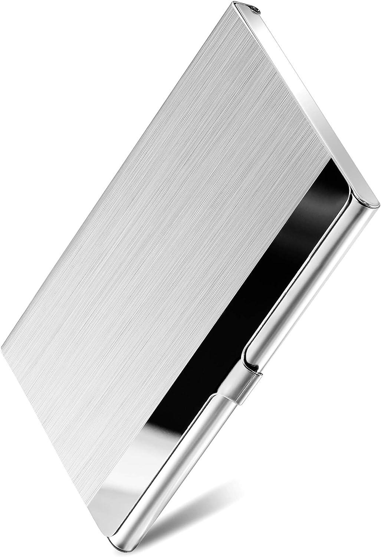 MaxGear Metal Business Card Holder for Men & Women, Pocket Business Card Case Slim Business Card Wallet Business Card Holders Name Card Holder, 8.8 x