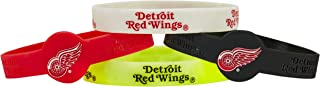 aminco NHL Detroit Red Wings Silicone Bracelets, 4-Pack