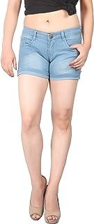 FCK-3 Women Silky Stretchable Faded Wash Denim Hot Short