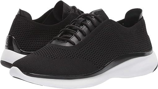 Black Knit/Black Leather/Black/Optic White