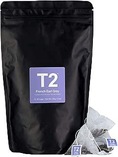 T2 Tea - French Earl Grey Black Tea, Tea Bags in a Resealable Bag, 120g (4.2oz), 60 Tea Bags