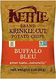 Kettle Brand Potato Chips, Krinkle Cut Buffalo Bleu, 2 Ounce, 24 Count