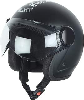 Virgo Helmet ISI Certified BLT Color Black Matt finish Clear visor