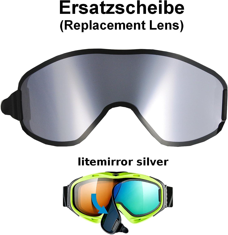 Uvex g.gl. 300 & uvision TO off ess Ersatzscheibe Ersatzscheibe Ersatzscheibe für Skibrille als take off - single lens litemirror silber B004EHRENG  Verrückter Preis ad1a73