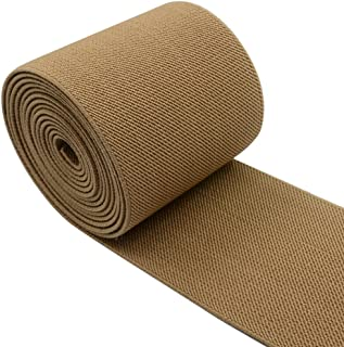 iCraft 3-Inch Wide by 2-Yard Colored Woven Elastic Band,Khaki 14010