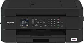 Brother Wireless All-in-One Inkjet Printer, MFC-J491DW, Multi-Function Color Printer, Duplex Printing, Mobile Printing,Amazon Dash Replenishment Enabled, Black, 8.5 (MFCJ491DW)