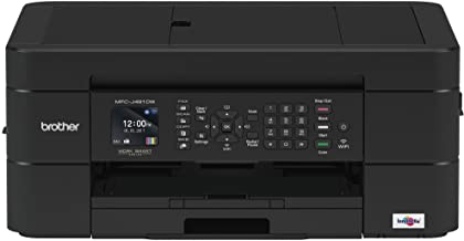 Brother Wireless All-in-One Inkjet Printer, MFC-J491DW, Multi-function Color Printer, Duplex Printing, Mobile Printing,Ama...