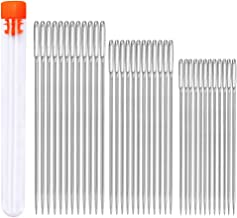 36 PCS Sewing Sharp Needles, 3 Sizes Hand Sewing Needle with a 3.3in Plastic Bottle, Large Eye Stitching Needles Embroidery Thread Sewing Needle Stainless Steel Yarn Knitting Needle for Machine