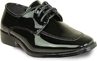 VANGELO Boy Kid Formal Tuxedo Dress Shoe for Wedding, Uniform, Prom and Formal Events