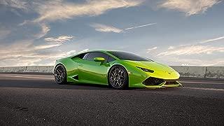 Verde Mantis Green Lamborghini Huracan LP610 Car Poster Print (24x36 Inches)