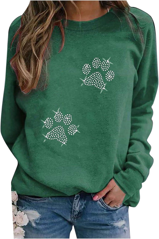 Sweatshirts for Women Long, Tie-Dye Print Women's Long Sleeve Sweatshirts Cute Shirts Crewneck Loose Thermal Pullover