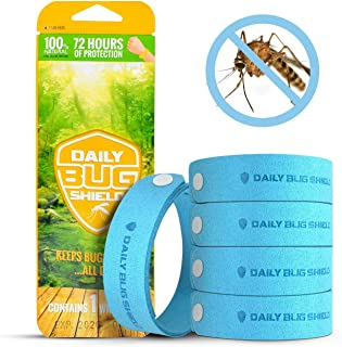 Mosquito Repellent Bracelets with Patch Wristband Wrist Band for Kids Adult Family Bug Insect Protection up to 300 Hours No deet