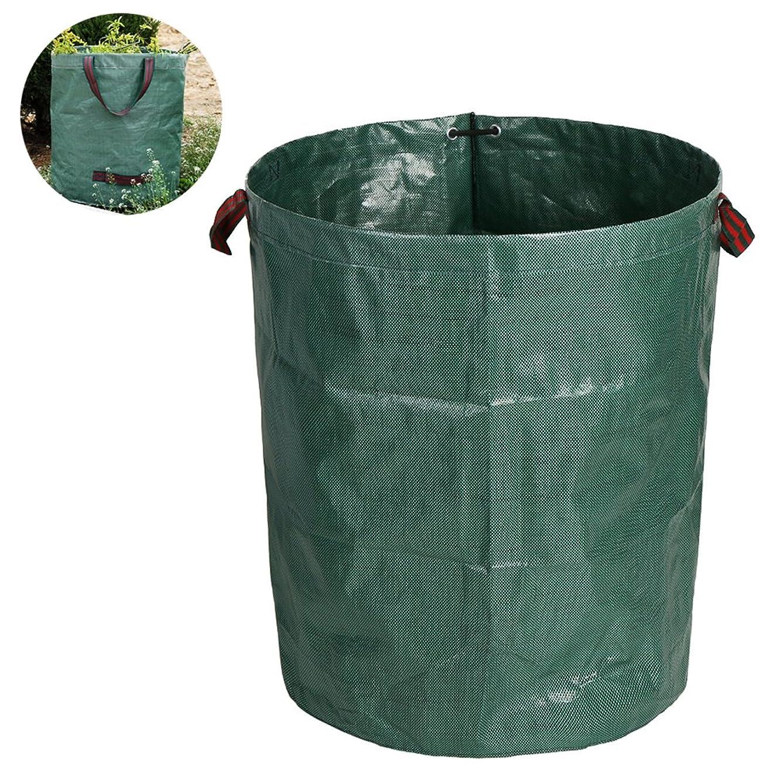 編集する淡い箱ガーデンバッグ ガーデンバケツ 大容量 自立式 折り畳み 丈夫 超大容量260L 直径67cm×深さ76cm 収納専用バッグ 収穫袋 集草バッグ 園芸用 お庭の清掃 グリーン