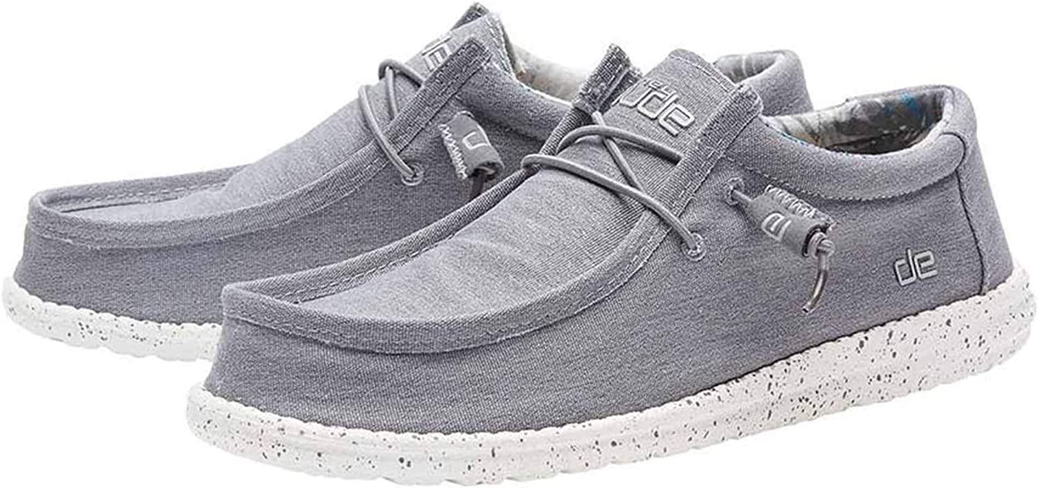 Hey Dude Wally Stretch Sneaker Man Grey 41