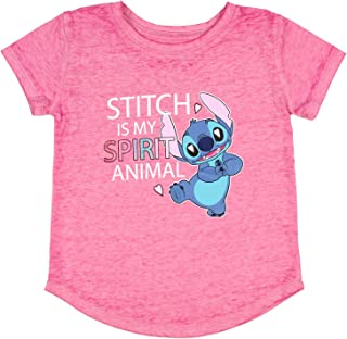 Seven Times Six Disney Lilo and Stitch Toddler Girl's Stitch is My Spirit Animal Burnout T-Shirt