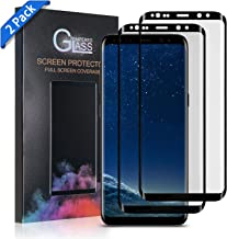Xawy [2-Pack] for Galaxy S8 Plus Screen Protector Tempered Glass,[Anti-Fingerprint][No-Bubble][Scratch-Resistant] Glass Screen Protector for Samsung Galaxy S8 Plus