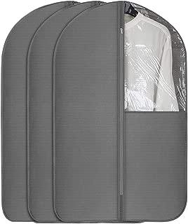 UUJOLY Garment Bag Garment Covers with Clear Window Full Zipper Garment Bag for Dresses & Dance Costumes, Closet Storage and Travel, Fabric, Medium