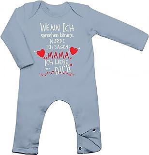 """Shirt Happenz Wenn ich sprechen könnte, würde ich Sagen """"Mama ich Liebe Dich"""" Babybody Geburt Langarm Langärmliger Strampler"""