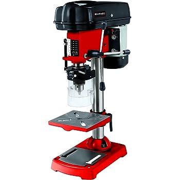 Einhell Säulenbohrmaschine TC-BD 350 (350 W, 580 - 2650 U/Min., 5-stufig anpassbare Drehzahl, dreiarmiges Bohrdrehkreuz, neig-, schwenkbar- und höhenverstellbarer Bohrtisch, Späneschutz)