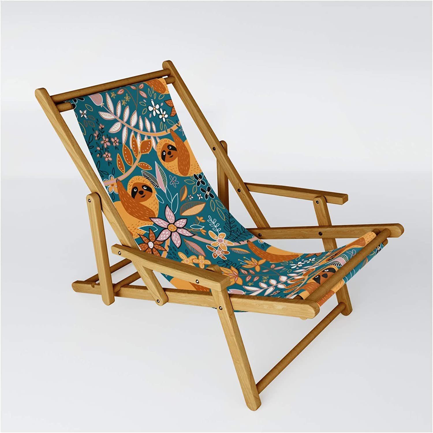 Society6 Happy Boho Sloth Floral by Micklyn on Max 65% OFF - One Chair Sling Cheap
