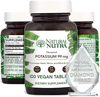 Sponsored Ad - Natural Nutra Elemental Potassium Gluconate Dietary Supplement, Energy and Nervous System Health, Blood Sug...