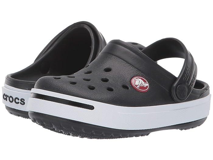 Toddler//Little Kid Crocs Kids Crocband II Black//White 2 Little Kid
