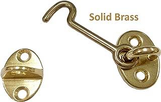 QCAA Forged Brass Cabin Hook Latch & Eye, 2-1/2