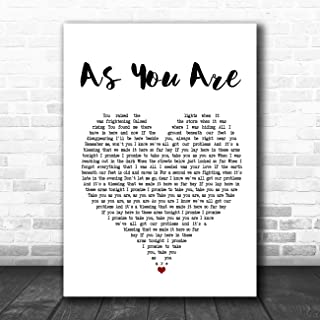 As You are (Shy FX Remix) Heart Song Lyric Quote Music Poster Gift Present Art Print