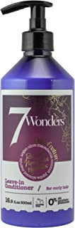 7 Wonders Nourishing Leave In Conditioner for Curly Hair with Pure Organic Oils of Almond, Marula, Argan, Olive, Macadamia, Coconut & Jojoba 16.9 fl. Oz.