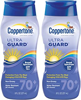Coppertone ultraGUARD Lotion SPF 70+ Sunscreen-8 oz, 2 pack