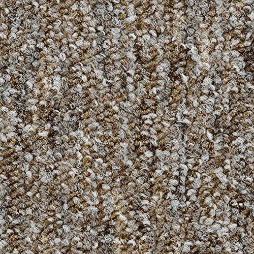 BODENMEISTER BM72269 Teppichboden Auslegware Meterware Schlinge meliert 200, 300, 400 und 500 cm Breit, verschiedene Längen, Variante:, Beige Braun, 5 x 5 M
