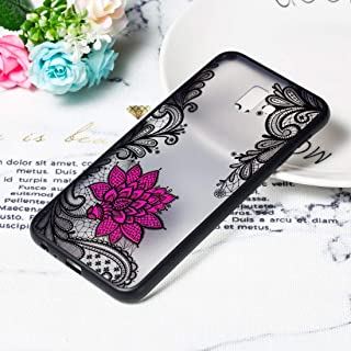 Simple Modern kitchen/home tools Small Lotus Pattern Embossed Lace + PC Case for Galaxy J4 Prime,Simple, comfortable, easy...