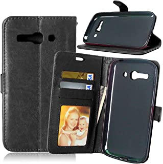 One Touch Pop C9 Phone Case, [Free Charger Cable] TOMYOU PU Leather Money Wallet Case, Flip Card Slots and Stand Cover for Alcatel One Touch Pop C9 (7047D) (Black)