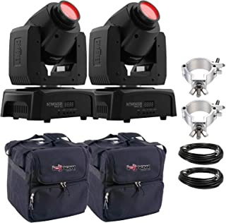 Chauvet DJ Intimidator Spot 110 Lightweight LED Moving Head (2-pack) with Clamps & Cases Package
