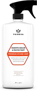 Best TriNova Granite Sealer & Protector - Best Stone Polish, Protectant & Care Product - Easy Maintenance for Clean Countertop Surface, Marble, Tile - No Streaks, Stains, Haze, or Spots - 18 OZ Review