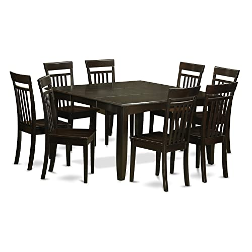 East West Furniture PFCA9 CAP W 9 Pc Dining Room Set Table With Leaf