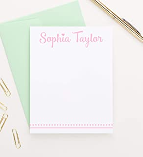 Personalized Stationery for Girls, Personalized Stationary Note Cards, Cute stationery for girls, Stationary for girls, Personalized Kids Thank You Cards, Your Choice of Color and Quantity