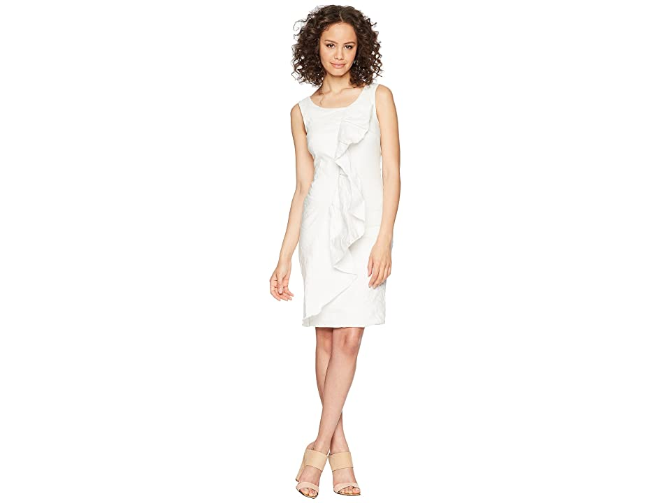 Nicole Miller Ruffle Dress (White) Women