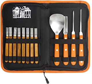 Pumpkin Carving Kit - 12 Piece Heavy Duty Stainless Steel pumpkin carving tools , Easily Carve Sculpt Halloween Jack-O-Lanterns, Carving Tools Make Great Spooky Décor