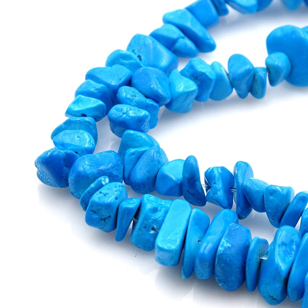 BRCbeads Nice Blue Turquoise Chips Beads 7-8mm 32 Inches per strand For Jewelery Making