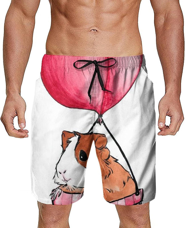Men's Novelty 3D Printed Swim Trunks Quick Dry Summer Beach Board Shorts