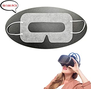 Universal Disposable VR Mask Cover 50/100 PCS Face Cover Mask for VR, VR Sanitary Mask, VR Cover, VR Eye Cover Mask, White (50 Pieces)