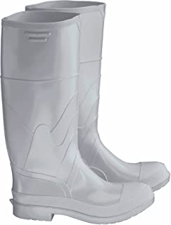 Dunlop 8101108 White PVC Boots, 100% Waterproof PVC, Lightweight and Durable Protective Footwear, Slip-Resistant, Size 8