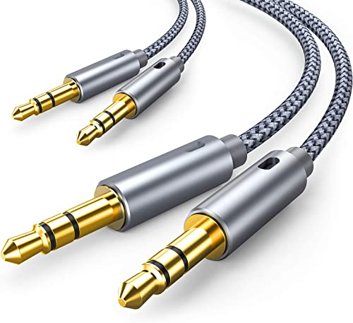 2 Pack AUX Cable, Oldboytech Auxiliary Cable [4ft/1.2M, Hi-Fi Sound] 3.5mm Nylon Braided AUX Cord for Car Compatible ...