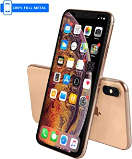 3rd Generation [Full Metal] Fake Dummy Display Compatible with Apple iPhone [Non-Working] 1:1 Scale Phone XS MAX 6.5 inches (Gold Menu Screen)