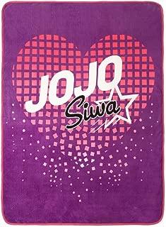 Nickelodeon Jojo Siwa Purple Super Soft Plush Throw 46 x 60 (Official Nickelodeon Product)