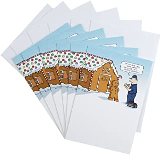 Hallmark Shoebox Funny Christmas Cards Pack, Gingerbread House (6 Cards with Envelopes)